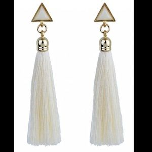 Jewelry - Triangle Tassel Ethnic Drop Earrings
